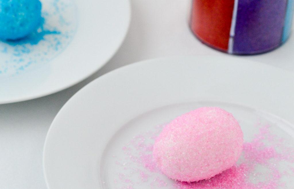 Marshmallow Easter Eggs in Sanding Sugar