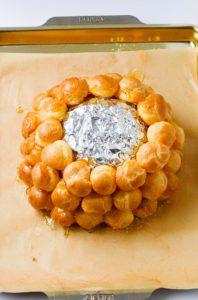 Making a Croquembouche Croquembasket