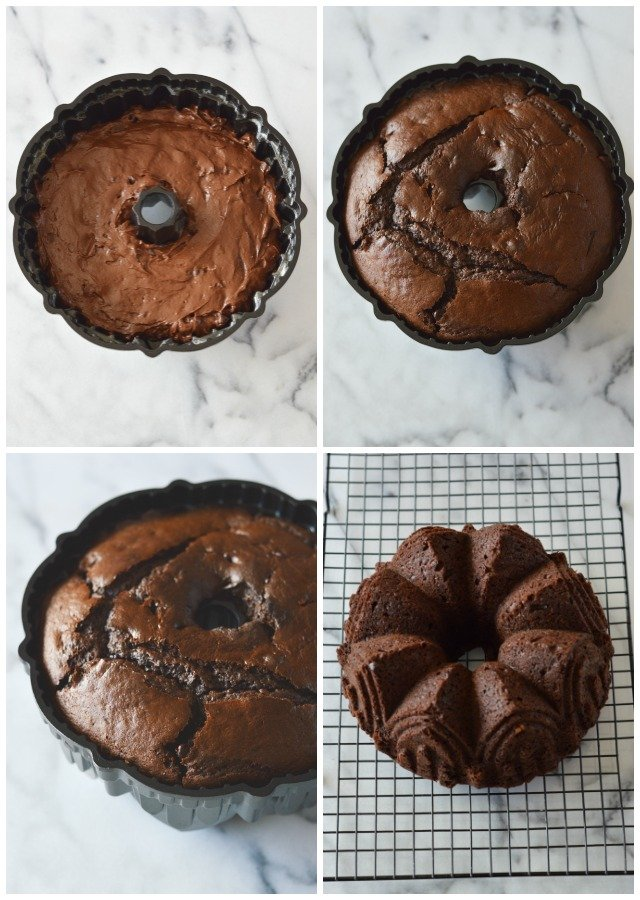 chocolate devil's food cake baking