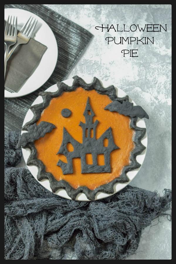 Halloween Pumpkin Pie Activated Charcoal Black Dough Crust