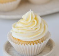 lemon buttercream on cupcake