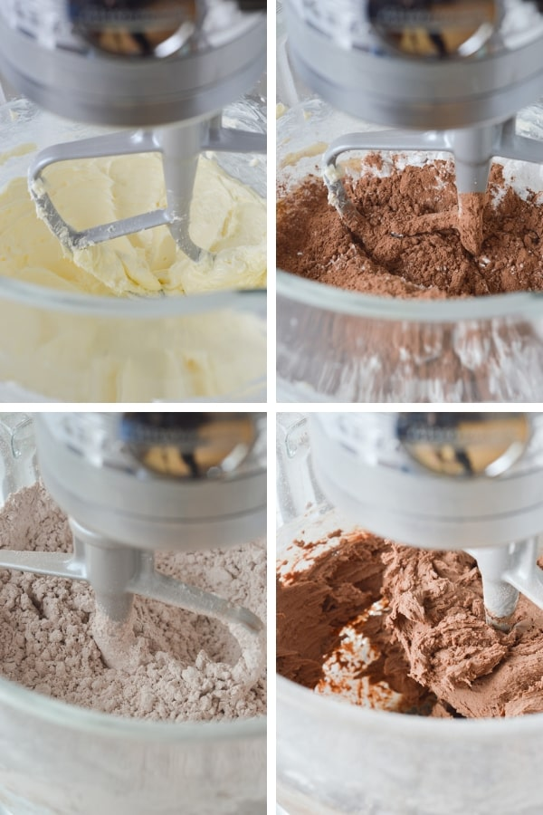process of making american chocolate buttercream