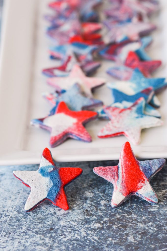 red white blue marble cookies