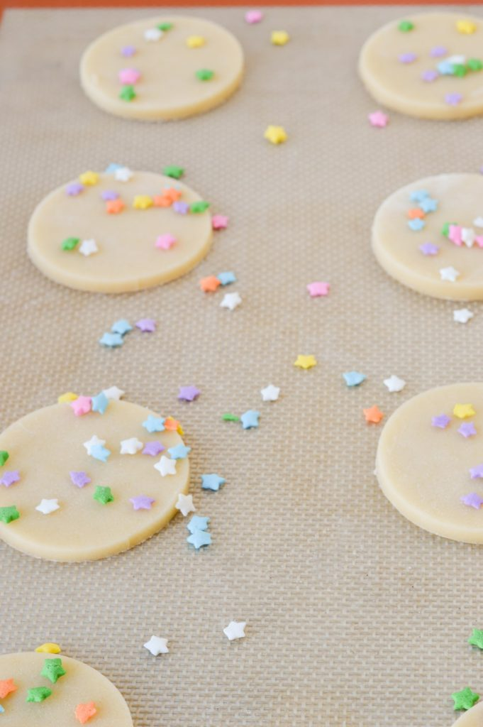 sugar cookies with sprinkles silicone mat