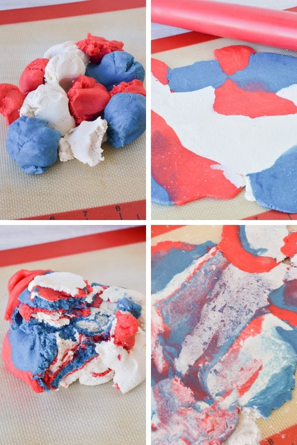 red white and blue sugar cookie dough