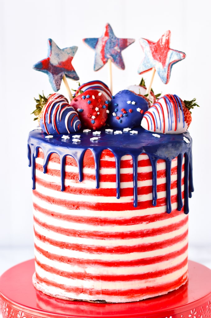 Fabulous 4Th Of July Cake Partylicious Funny Birthday Cards Online Alyptdamsfinfo
