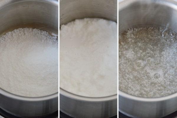 process of melting isomalt