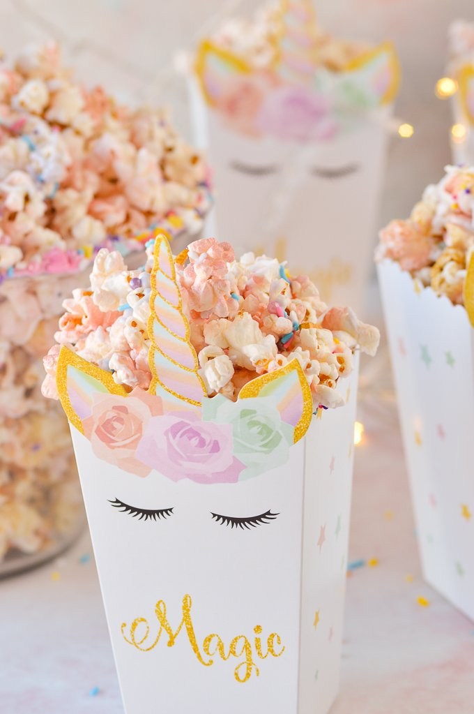 unicorn popcorn in unicorn popcorn box