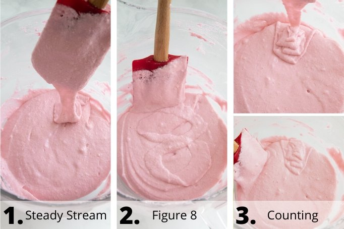 different ways to tell macaronage process is properly mixed