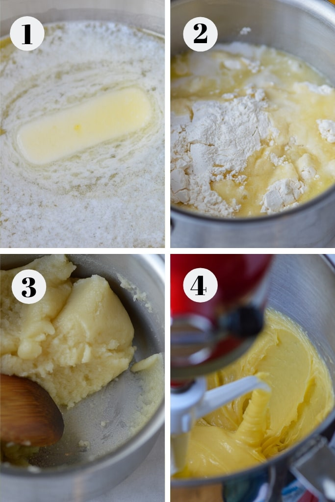 process of making choux pastry dough